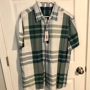 NWT Perry Ellis short sleeve button up